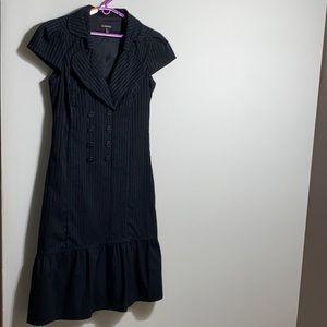 Le chateau black midi striped dress